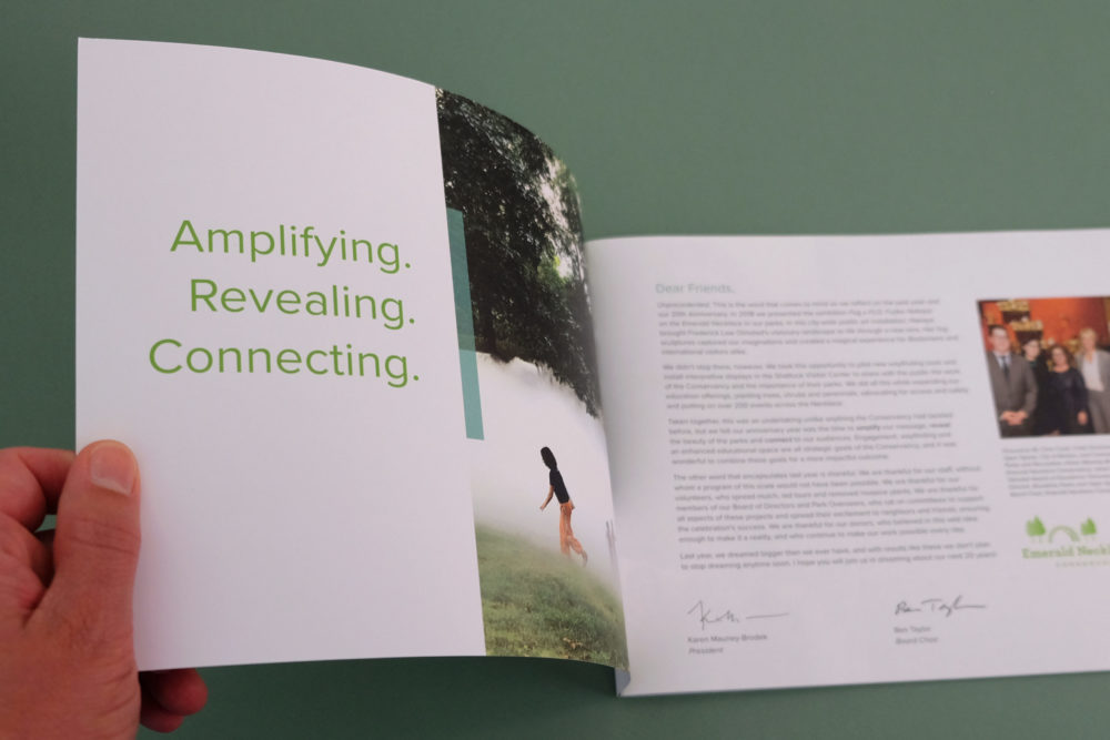 Annual Report, inside pages