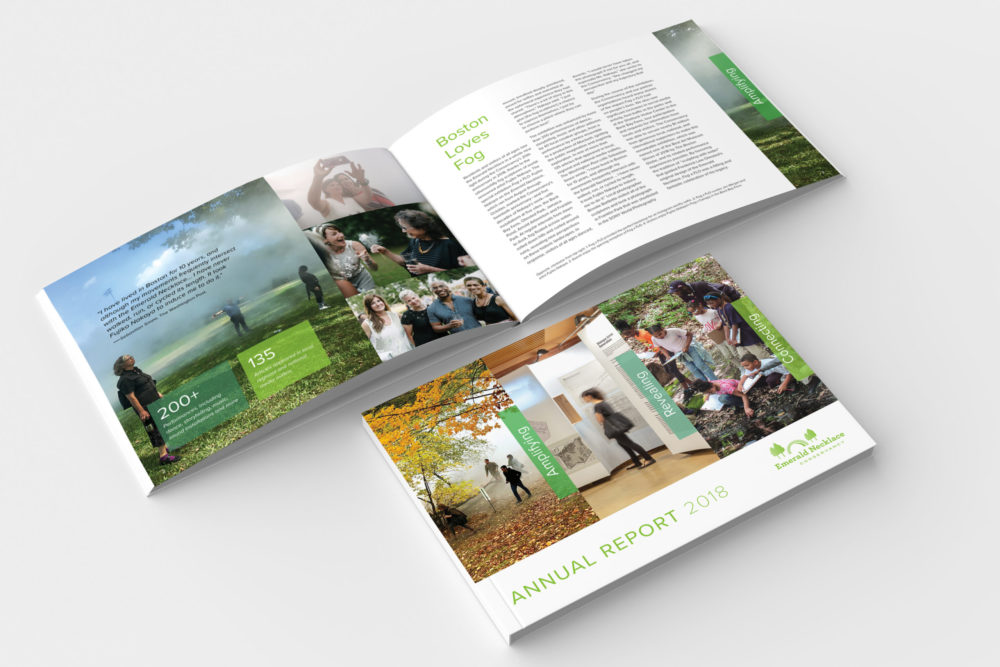 Annual Report, cover and inside pages